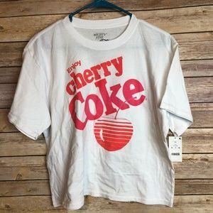 Might Fine Coca-Cola Cherry Coke Cropped Graphic T